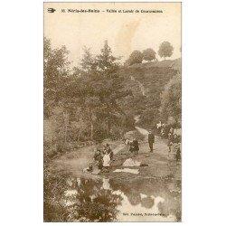 carte postale ancienne 03 NERIS-LES-BAINS. Lavoir de Courneauron Lavandières et Laveuses