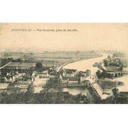 carte postale ancienne 77 MONTEREAU. Vue prise de Surville vers 1908