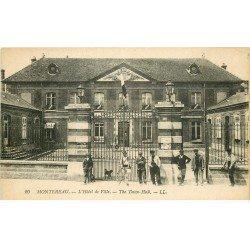 carte postale ancienne 77 MONTEREAU. Hôtel de Ville