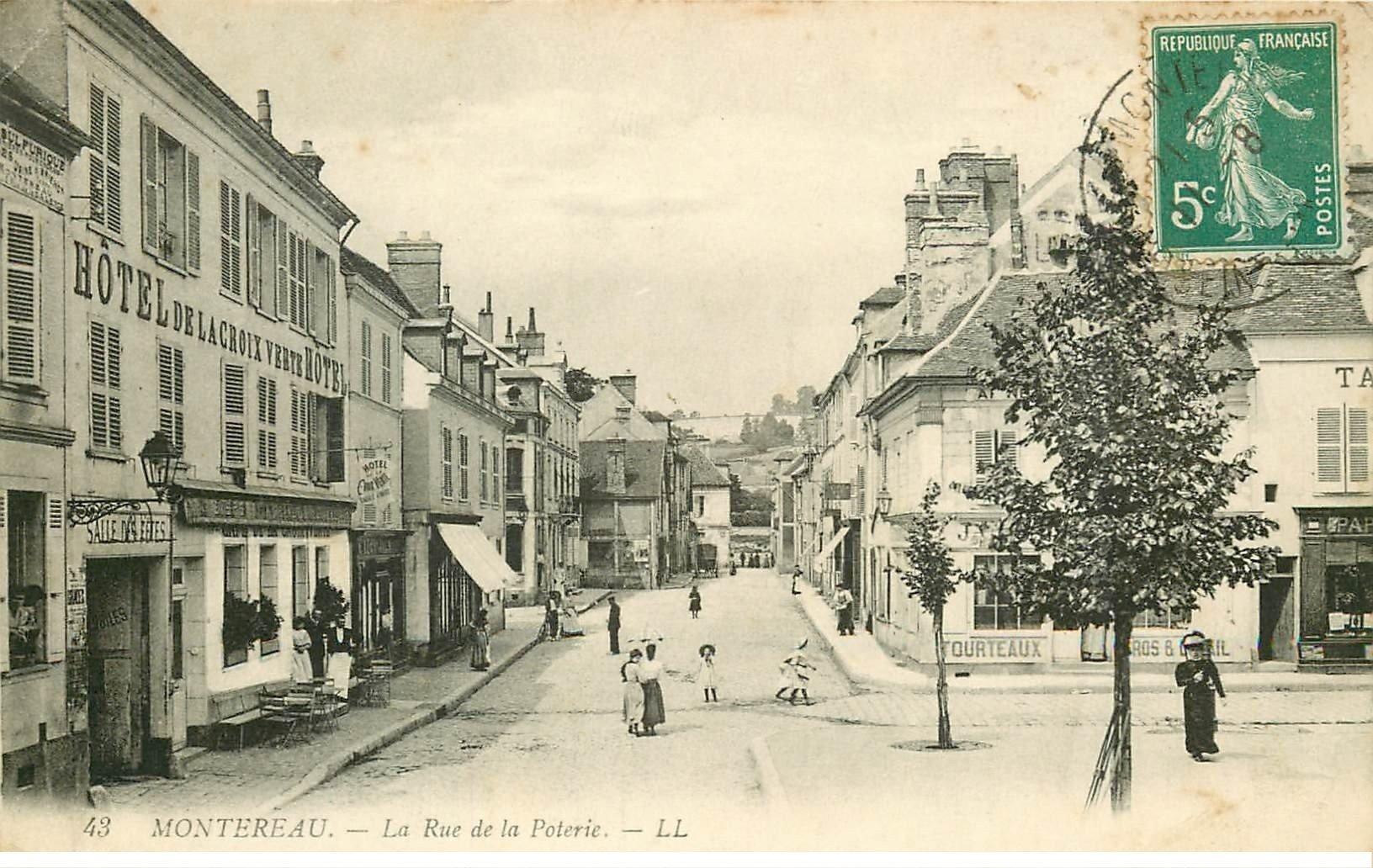 77 Montereau  Rue De La Poterie H U00f4tel De La Croix Verte
