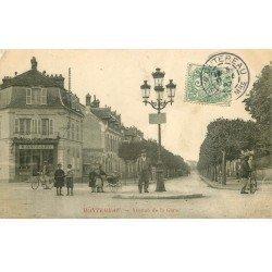 carte postale ancienne 77 MONTEREAU. Avenue de la Gare 1907 Marbrier Galland