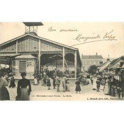 carte postale ancienne 77 MONTEREAU. La Halle 1903