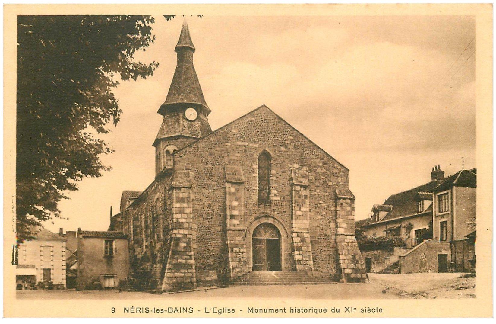 carte postale ancienne 03 NERIS-LES-BAINS. L'Eglise