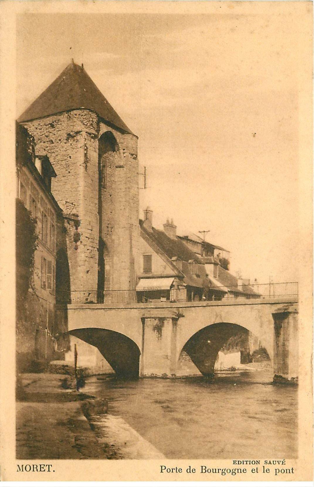 77 moret sur loing porte bourgogne et pont - La porte de bourgogne moret sur loing ...