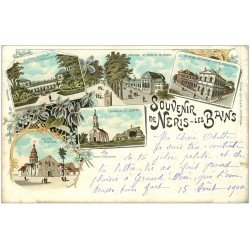 carte postale ancienne 03 NERIS-LES-BAINS. Multivues Rare 1900