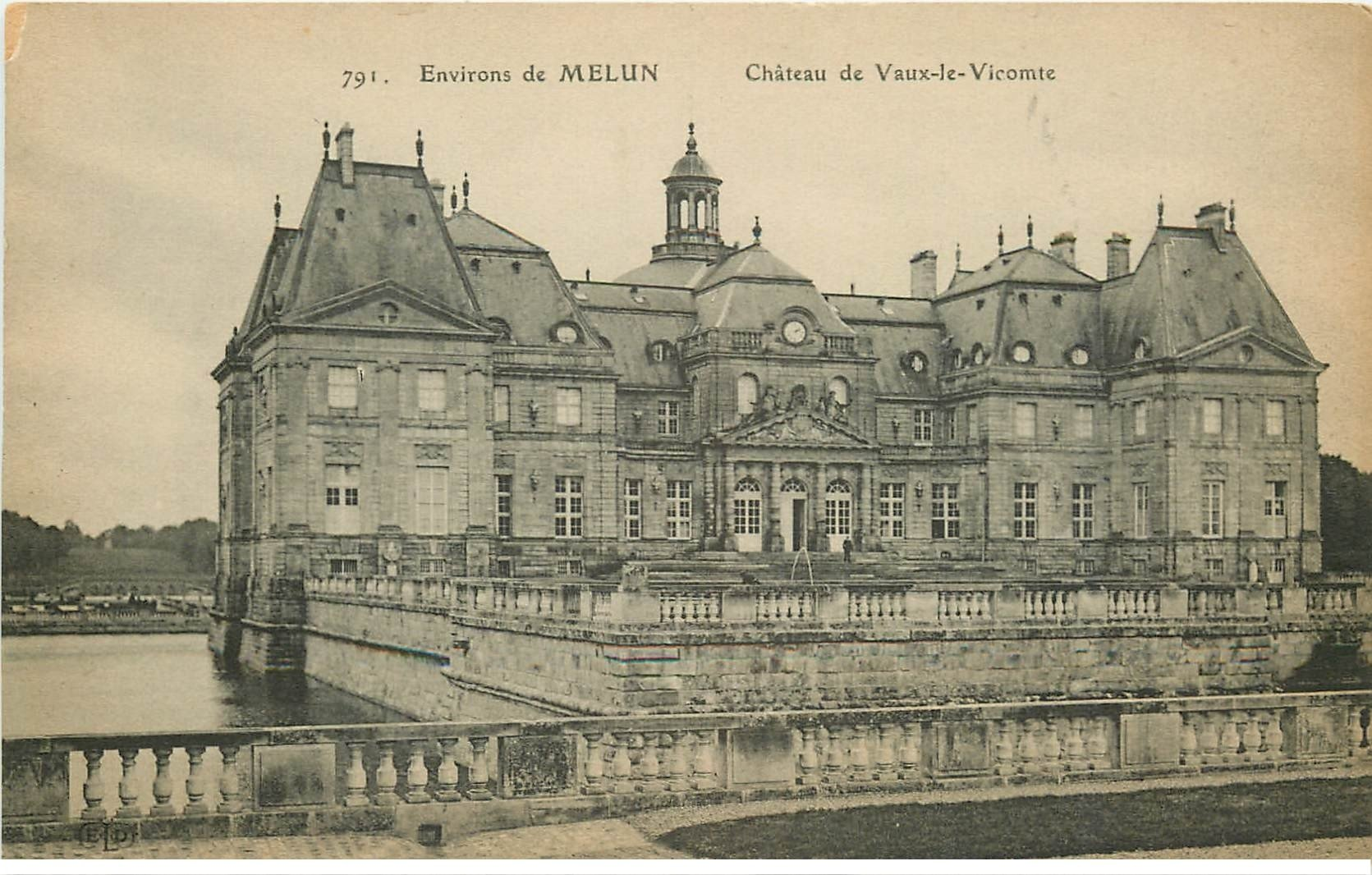 carte postale ancienne 77 MELUN. Château Vaux-le-Vicomte 791
