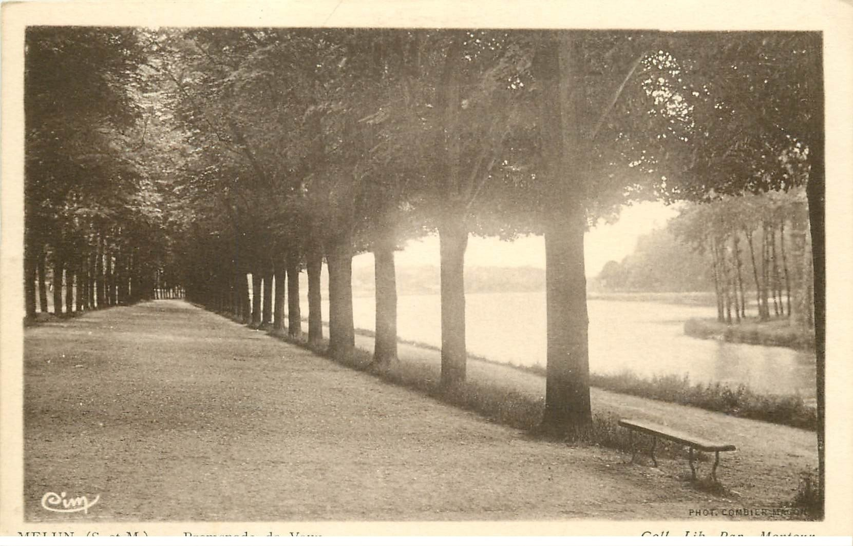 carte postale ancienne 77 MELUN. Promenade de Vaux