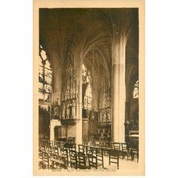 carte postale ancienne 77 MELUN. Eglise Saint-Aspais