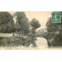 carte postale ancienne 77 MELUN. L'Almont 1911