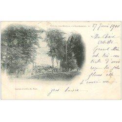 carte postale ancienne 03 NERIS-LES-BAINS. Parc Casino et Allée 1900