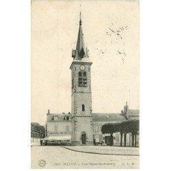 carte postale ancienne 77 MELUN. Tour Saint-Barthélémy 1909 Barraud Traiteur