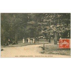 carte postale ancienne 03 NERIS-LES-BAINS. Parc des Arènes vers 1909