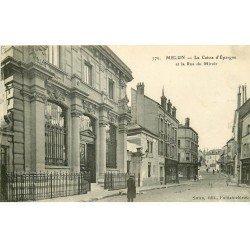 carte postale ancienne 77 MELUN. Caisse d'Epargne Rue du Miroir