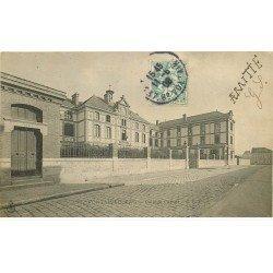 carte postale ancienne 77 FONTAINEBLEAU. Collège Carnot 1905