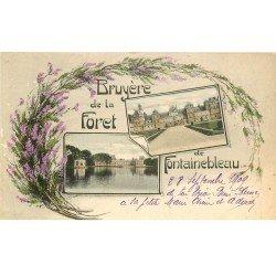 carte postale ancienne 77 FONTAINEBLEAU. Bruyère de la Forêt