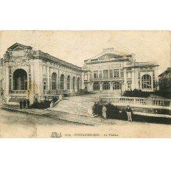 carte postale ancienne 77 FONTAINEBLEAU. Le Théâtre 1928