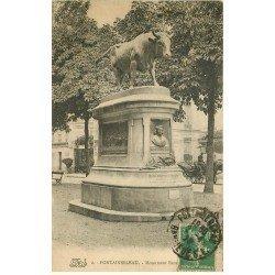carte postale ancienne 77 FONTAINEBLEAU. Monument Rosa Bonheur 1923