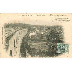 carte postale ancienne 77 FONTAINEBLEAU. Viaduc de Changis