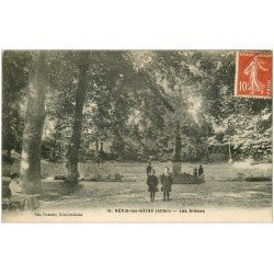 carte postale ancienne 03 NERIS-LES-BAINS. Parc les Arènes 1919