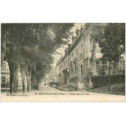 carte postale ancienne 03 NERIS-LES-BAINS. Parc Villas 1917