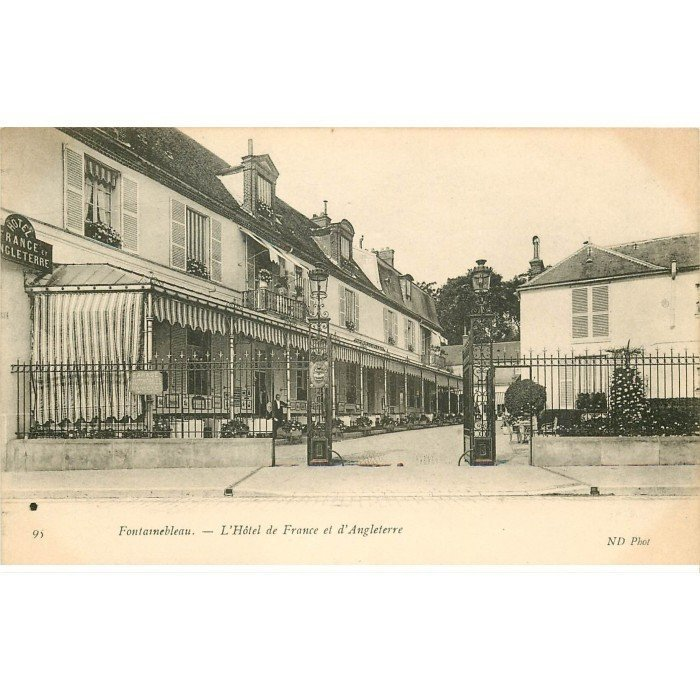 77 fontainebleau h tel de france et d 39 angleterre for Carte de france hotel