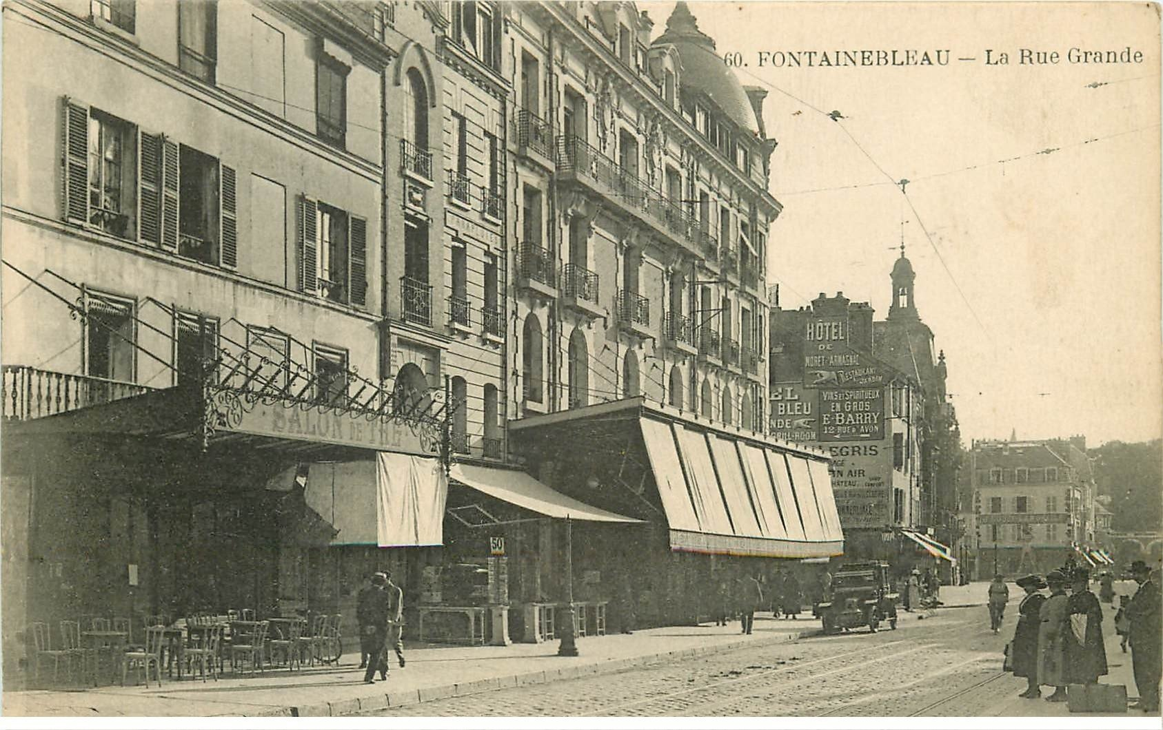 77 fontainebleau grande rue salon de th for Salon carte postale