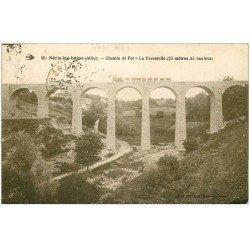 carte postale ancienne 03 NERIS-LES-BAINS. Train sur la Passerelle 1931. Chemin de Fer