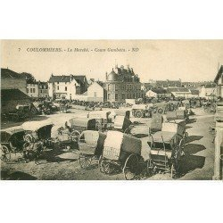 carte postale ancienne K. 77 COULOMMIERS. Le Marché Cours Gambetta