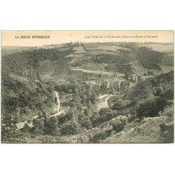 carte postale ancienne 23 TARDES la Vallée entre Evaux-les-Bains et Chambon