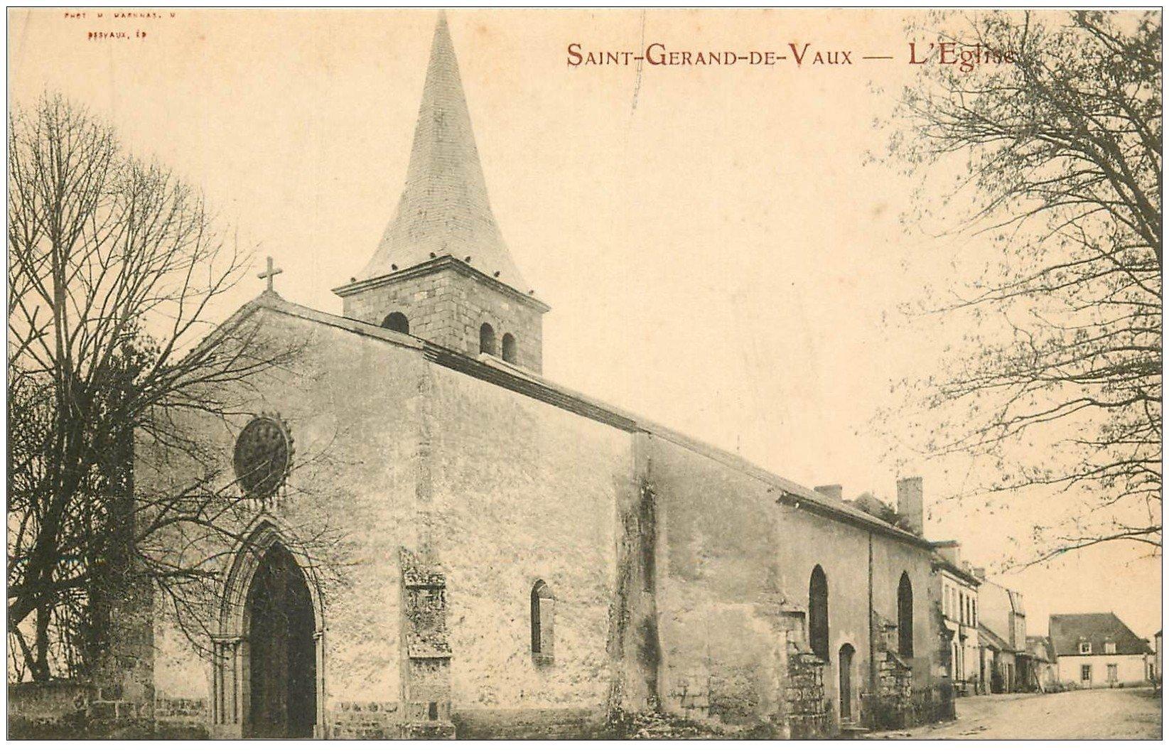 carte postale ancienne 03 SAINT-GERANS-DE-VAUX. L'Eglise