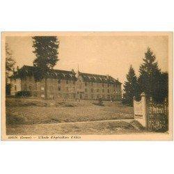 carte postale ancienne 23 AHUN. Ecole d'Agriculture