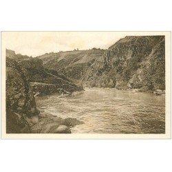 carte postale ancienne 23 ANZEME. Les Gorges de la Creuse