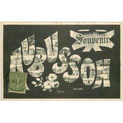 carte postale ancienne 23 AUBUSSON. Souvenir 1917