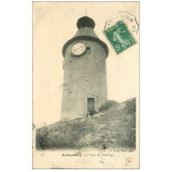 carte postale ancienne 23 AUBUSSON. Tour de l'Horloge animation 1907