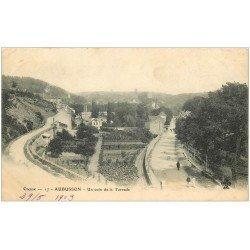 carte postale ancienne 23 AUBUSSON. Un coin de la Terrade 1903. Plissure