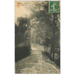 carte postale ancienne 23 BOUSSAC. La Vieille Tour 1923