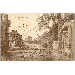 carte postale ancienne 23 CAMP DE LA COURTINE. Coiffeur et Hôtel Rechignac 1928. Voiture ancienne