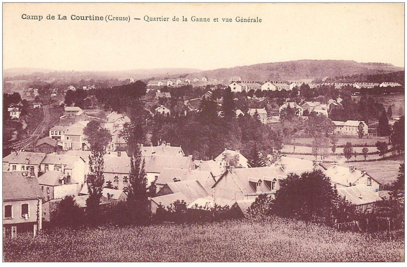carte postale ancienne 23 CAMP DE LA COURTINE. Quartier de la Ganne