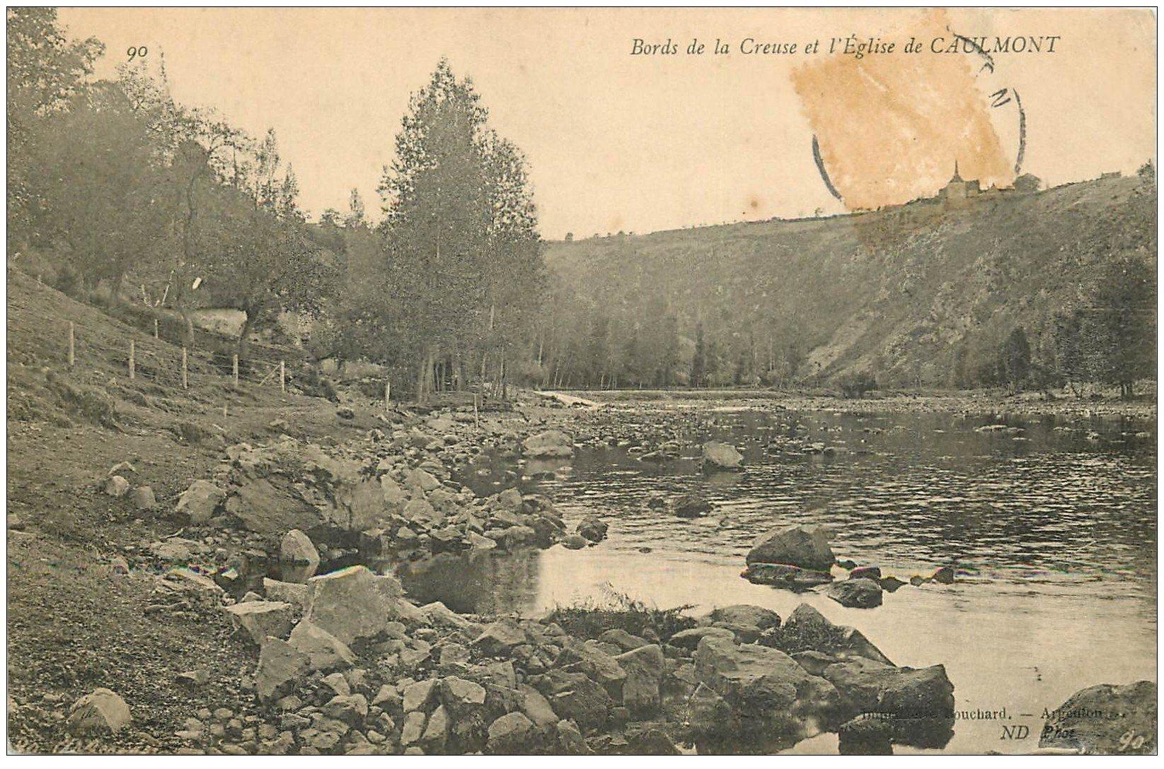 carte postale ancienne 23 CAULMONT. L'Eglise 1907