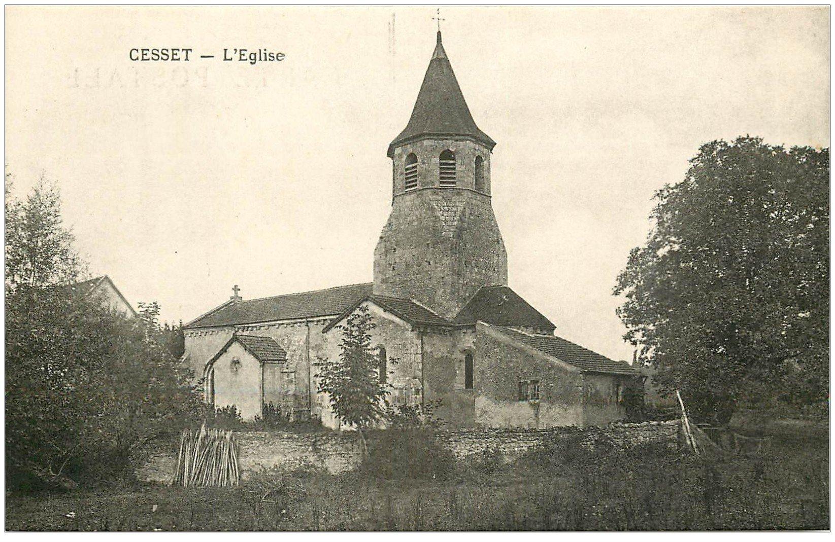 carte postale ancienne 23 CESSET. L'Eglise