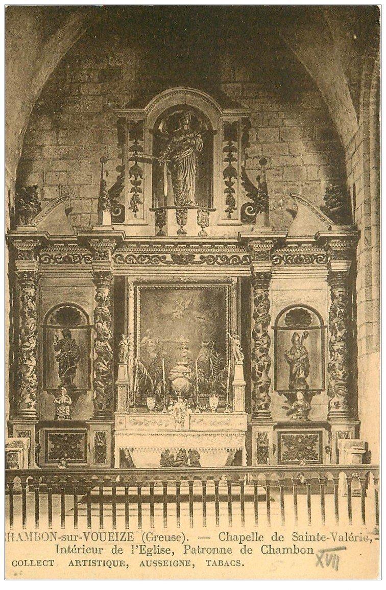 carte postale ancienne 23 CHAMBON-SUR-VOUEIZE. Eglise Chapelle Sainte-Valérie