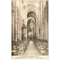 carte postale ancienne 23 CHAMBON-SUR-VOUEIZE. Eglise intérieur avec sa Chaire