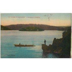 carte postale ancienne 03 SAINT-MARIEN. Panorama avec barque de Pêcheur 1927