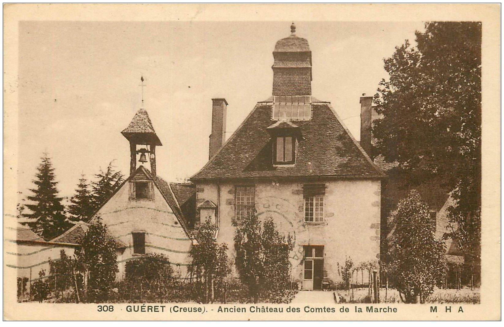 carte postale ancienne 23 GUERET. Château des Comtes de la Marche