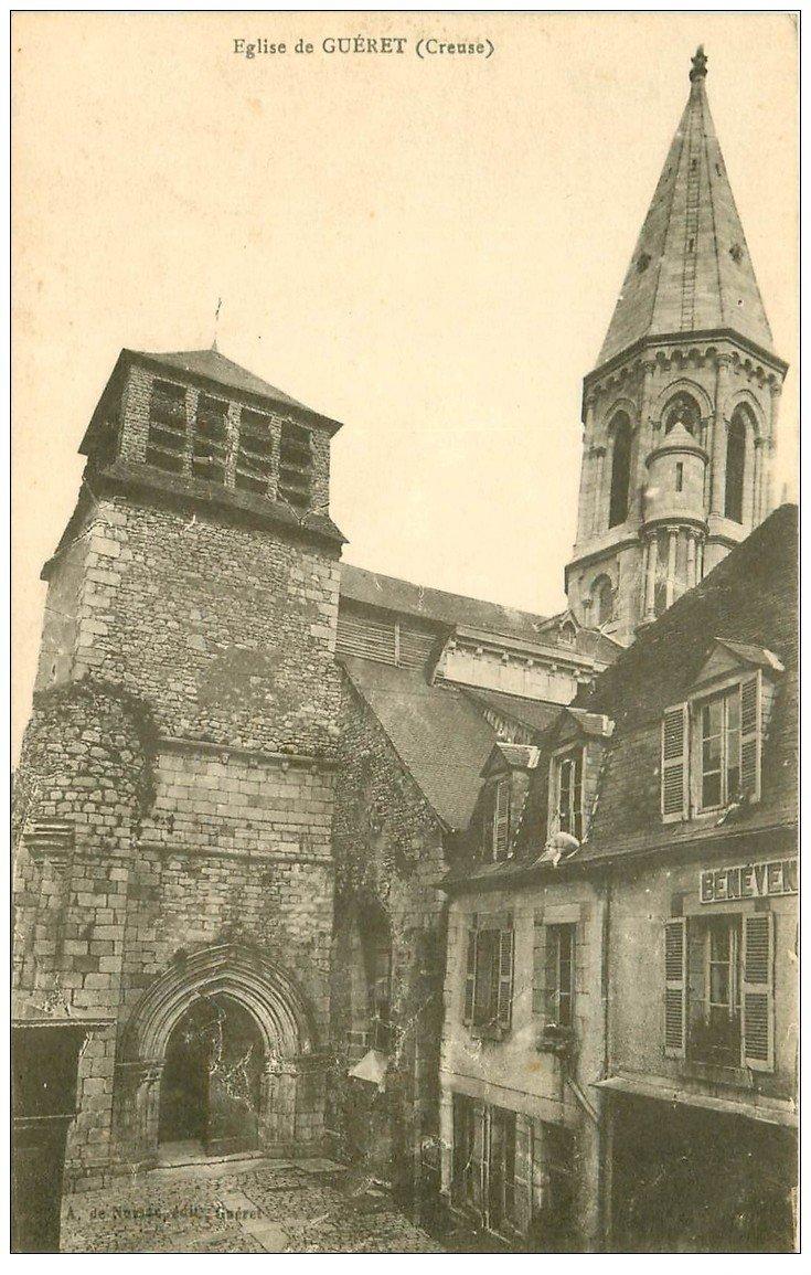 carte postale ancienne 23 GUERET. L'Eglise