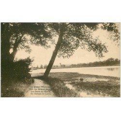 carte postale ancienne 23 LE GRAND BOURG. Etang et Château de Laribe