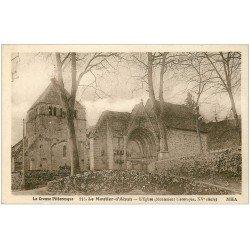 carte postale ancienne 23 LE MOUTIER-D'AHUN. L'Eglise