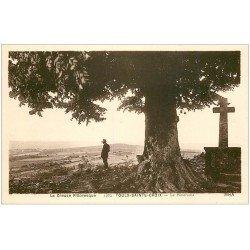 carte postale ancienne 23 TOULX-SAINTE-CROIX. Calvaire et Panorama