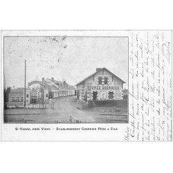carte postale ancienne 03 SAINT-YORRE. Etablissement Source Guerrier 1904