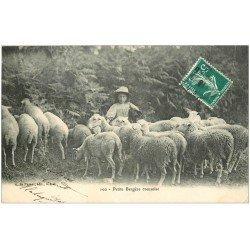 carte postale ancienne 23 TYPES CREUSOIS. Petite Bergère Creusoise ave Moutons 1913